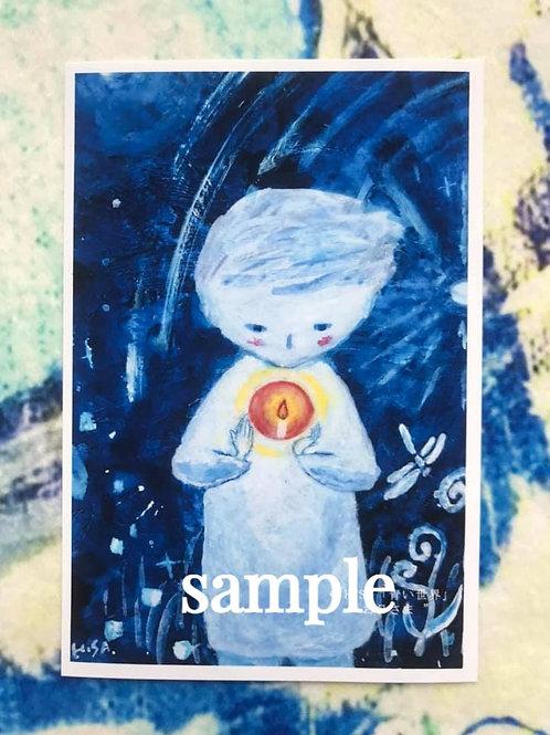 ポストカード    HISA 青い世界「お日さま」