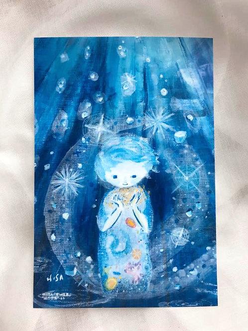 ポストカード「青い世界」星の音楽