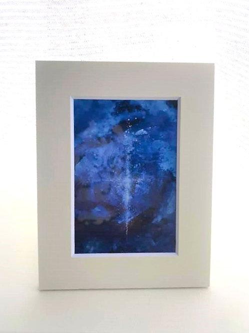 複製画HISA「青い世界」・保管用UVペーパーフレーム /小さな複製画専用