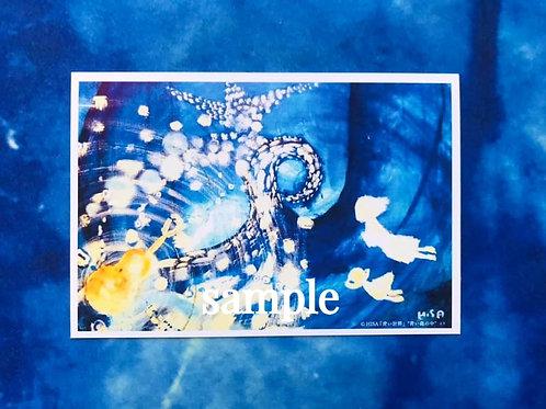 ポストカード    HISA 青い世界「青い森の中」