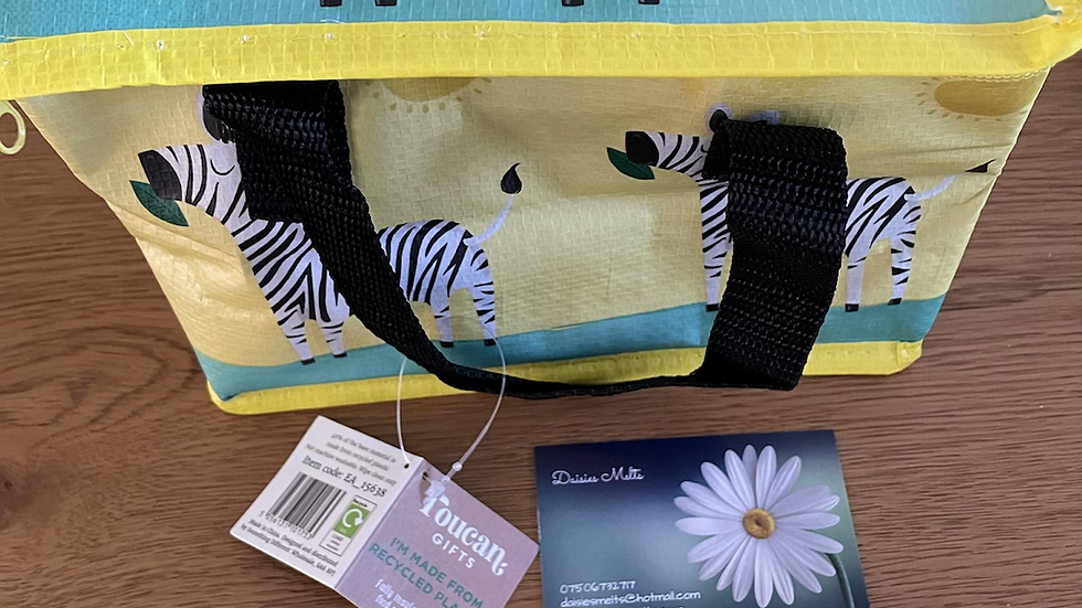 Foldable Lunch Box - Zebra