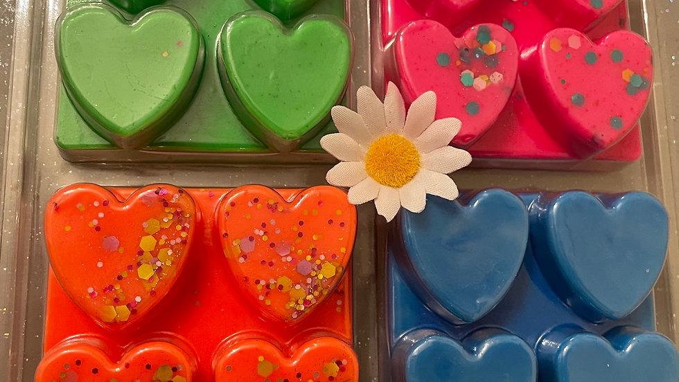 Neon heart selection