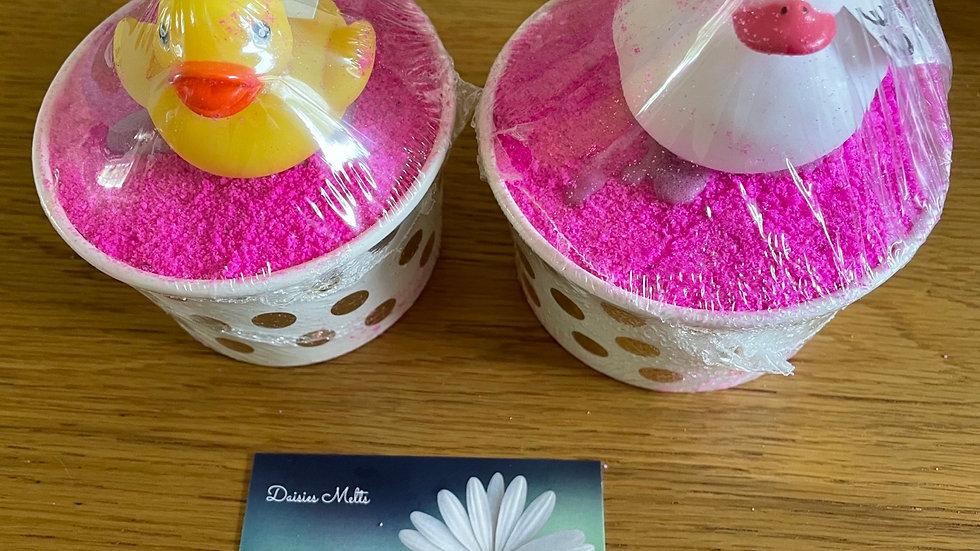 Bath Bomb Cup Vegan - Pink/Purple