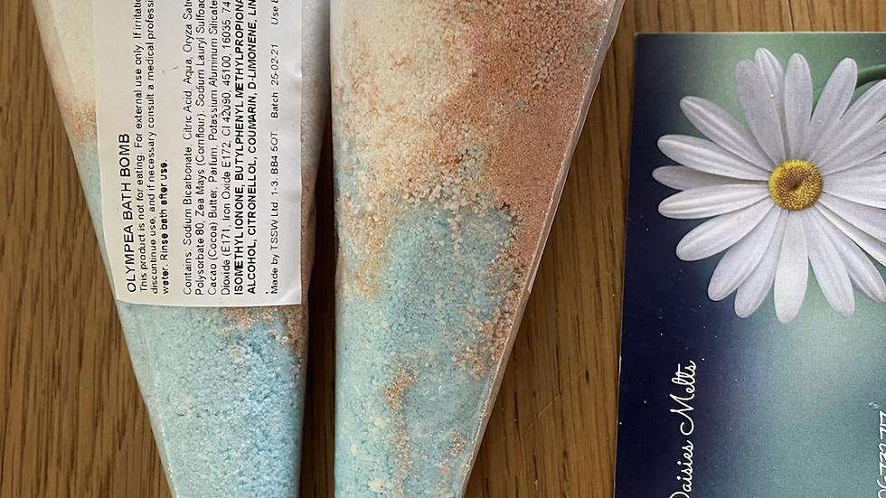 Olympea bath bomb cone