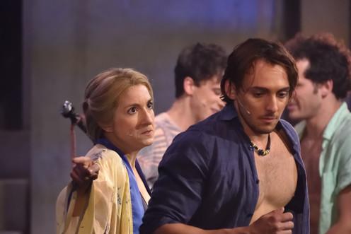 Natalie Byrns, Guillaume Borys Derrière : Gabriel Favreau, Tommy Tremblay © René Lavoie