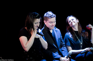 Une scène à 3, Salle Claude-Léveillée, Montréal Natalie Byrns, Jimmy Fecteau, Emilie Josset © Martin Vallière