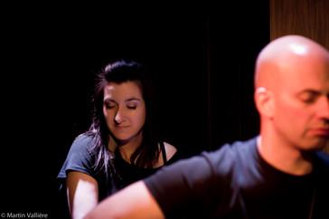 Une scène à 3, Salle Claude-Léveillée, Montréal Natalie Byrns, Danny Ranallo © Martin Vallière