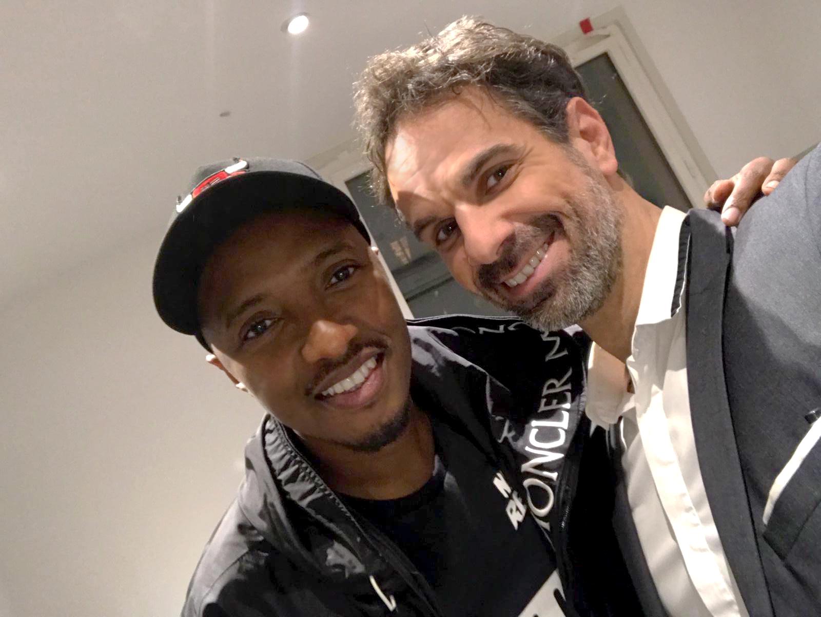 Giorgio avec le rappeur Soprano