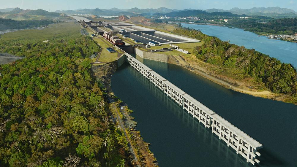 Canal de Panamá desde el aire