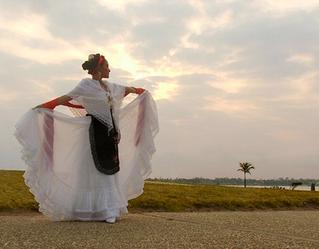 El vestido de jarocha.