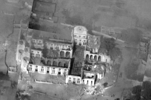Foto aérea de las ruinas de la Catedral