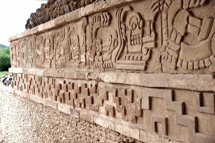 Detalle del templo en Tula