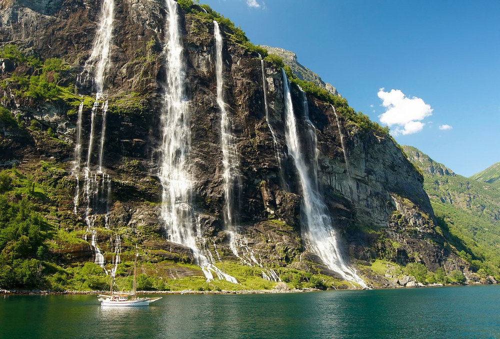 Cascada siete hermanas, Noruega