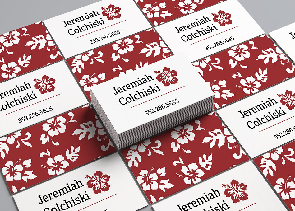 Jeremiah Colchiski Business Card Mockup.