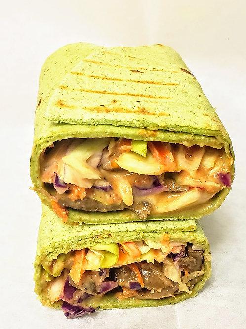 Spinach Wrap Mushroom Shawarma