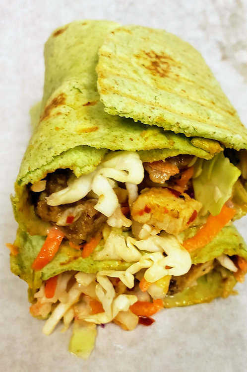 Spinach Wrap Beef & Chicken  Shawarma