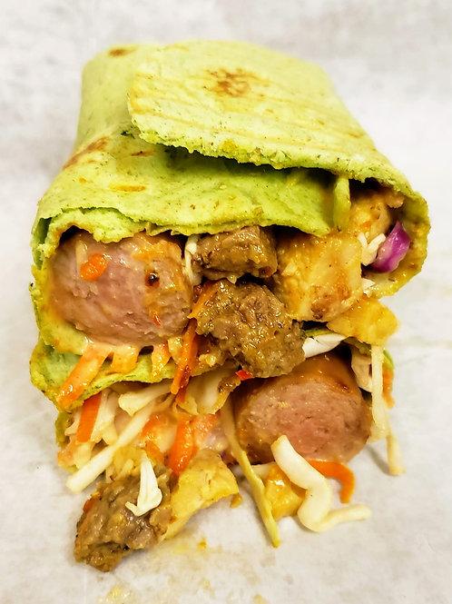 Spinach Wrap Supreme Shawarma