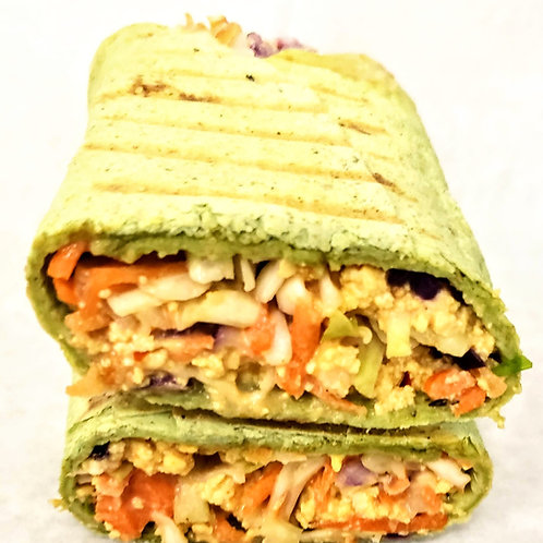 Spinach Wrap Tofu Shawarma