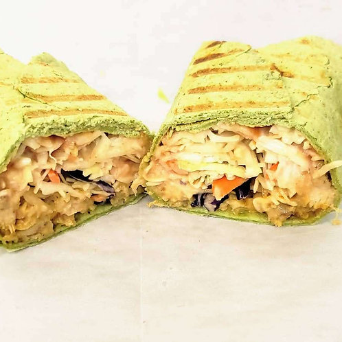 (F) Spinach Wrap Sausage Shawarma