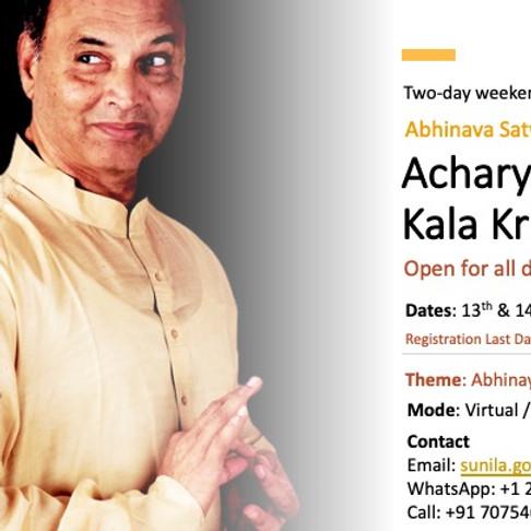 Abhinaya Workshop with Acharya Kala Krishna