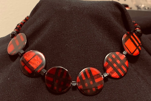 Red Plaid Chocker