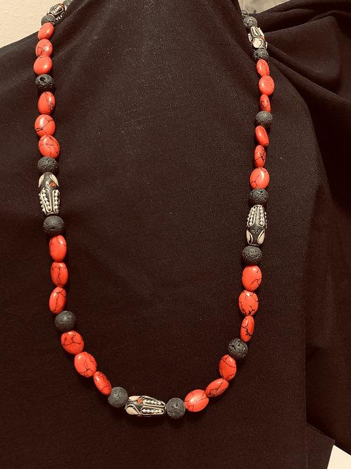 Red Coral with Ladaki Embleshments
