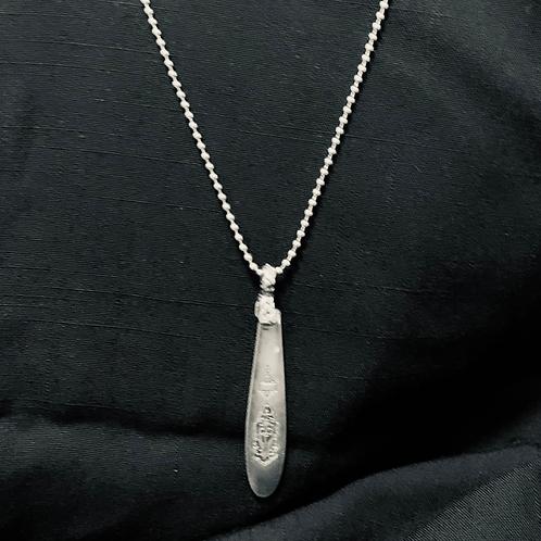 Sterling Silver Antique Knife Pendant