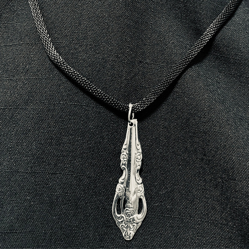 Sterling Silver Antique Knife Pendant