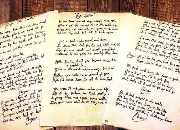 Handwritten & Signed Lyrics