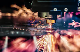 CNC Laser cutting of metal, modern indus