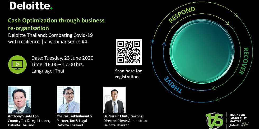 """""""Deloitte Thailand: Combating Covid-19 with resilience 