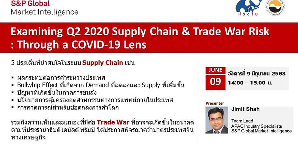 """S&P Global Webinar: """"Examining Q2 2020 Supply Chain & Trade War Risk Through a COVID-19 Lens"""""""