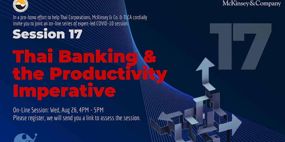 """McKinsey&Co. Session 17: """"Thai banking and the productivity imperative,"""""""