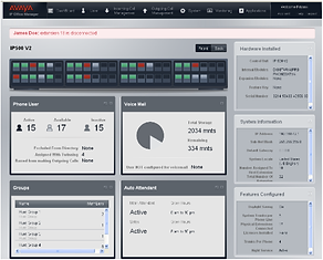 Avaya IP Office web management interface GUI