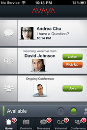 Avaya IPhone App