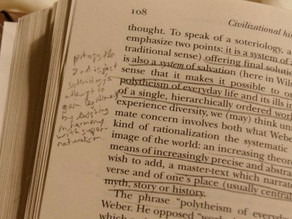 Cataloguing personal histories through books.