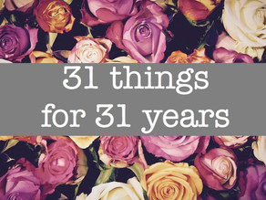 31 things to celebrate 31 years