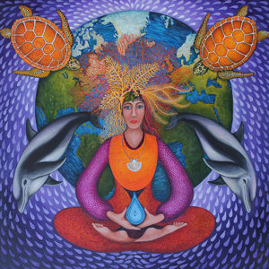"""Earth Prayer: Meditate"" - Archival Print"
