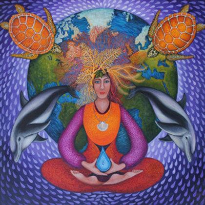 """Earth Prayer: Meditate"" - Archival Print"
