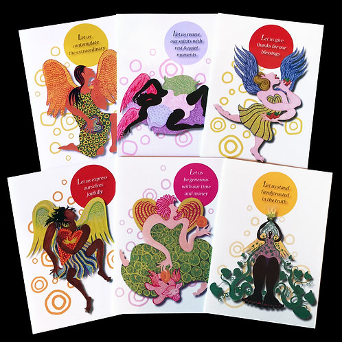 """Wild Angels"" Set of 6 Cards"