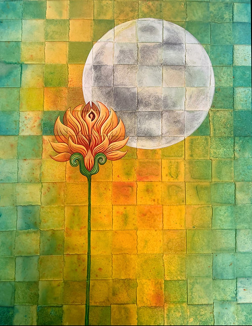 """Flower Moon"" Original Acrylic Painting"