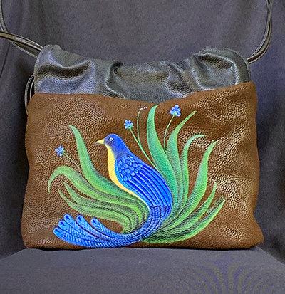 """Happiness"" Leather Handbag"
