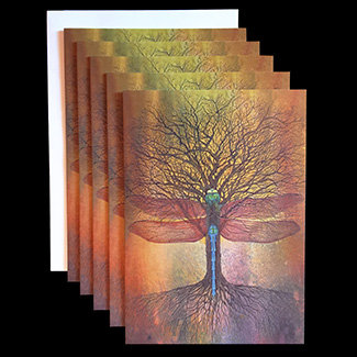 """Symbiotic Dance"" Set of 5 Cards"
