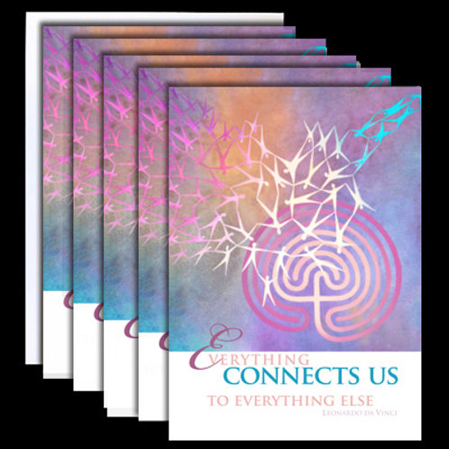 """Everything Connects Us"" Set of 5 Cards"