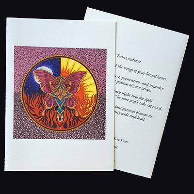"""""""Transcendence"""" Set of 5 Cards"""