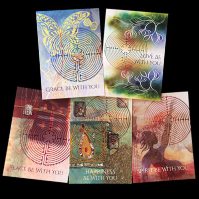 """With You"" Labyrinth Set of 5 Cards"