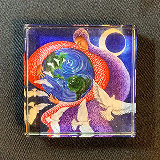 """""""Earth Prayer: Peace"""" Paperweight"""