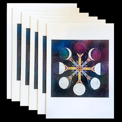 """""""La Luna Misteriosa"""" Set of 5 Cards"""