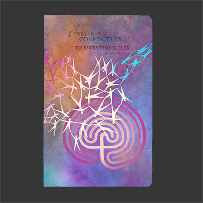 """Everything Connects Us"" Soft Cover Journal"