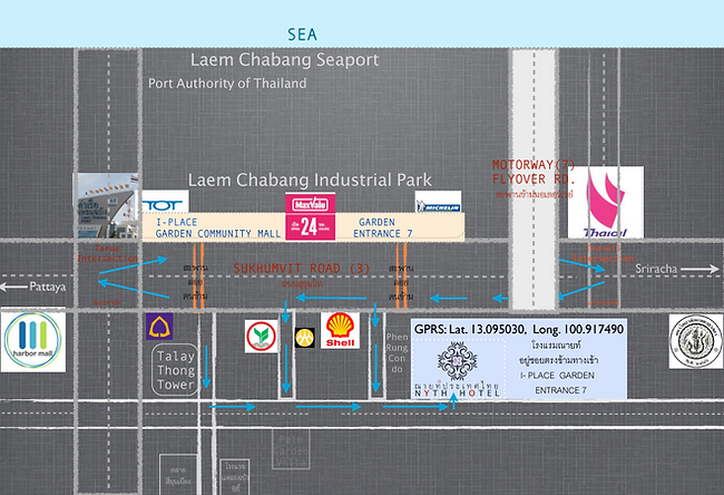NYTH hotel Laem Chabang Map
